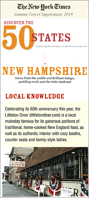 NY Times NH Tourism Supplement